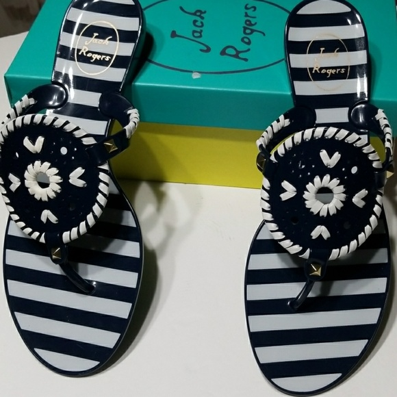 Jack Rogers Shoes - Striped Slippers